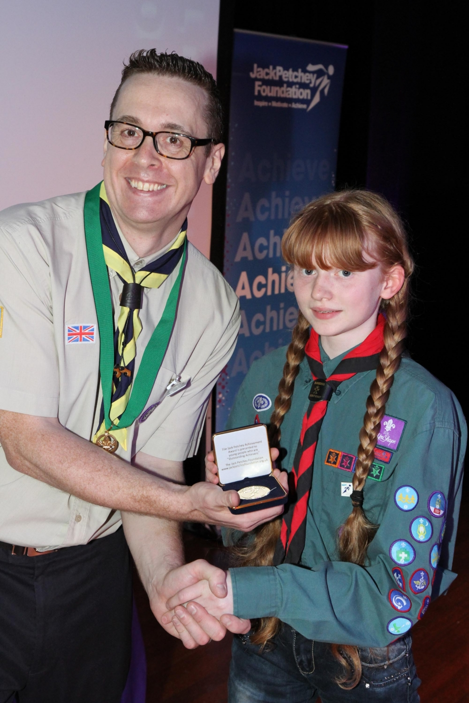 Eleanor getting her Petchey award